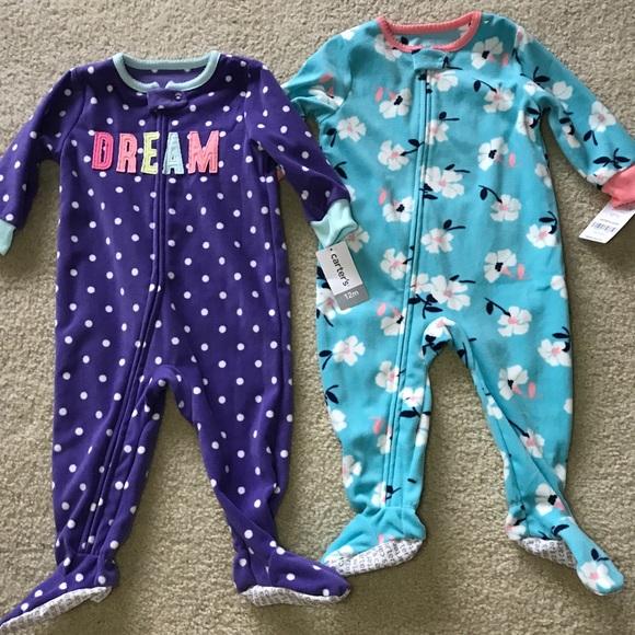 e5d8f009f Carter's Pajamas | Nwt Girls Carters 2 Pack Fleece Footed | Poshmark